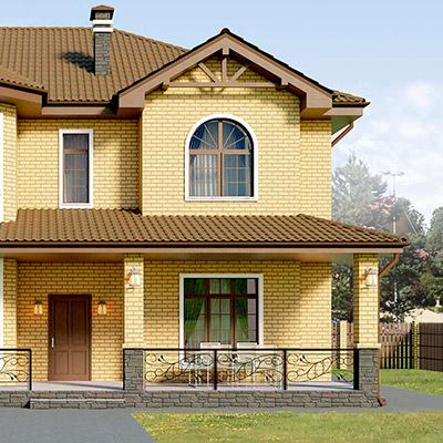 Современный дизайн проект дома под ключ